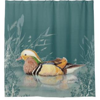 Rideaux De Douche Art chinois d'oiseau de canard de mandarine