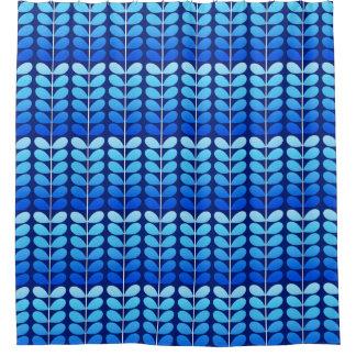 Rideaux De Douche Bleu danois de feuille, de marine et de cobalt de