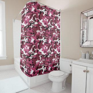 Rideaux De Douche Camouflage rose