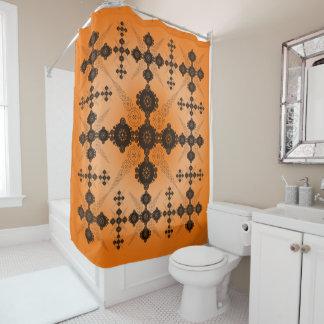 Rideaux De Douche Celtic noir orange de dentelle
