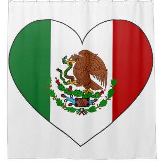 Rideaux De Douche Coeur de drapeau du Mexique