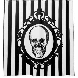 Rideaux De Douche Copie noire et blanche de camée victorienne de
