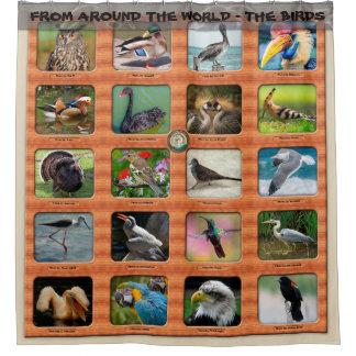 Rideaux De Douche De partout dans le monde - les oiseaux