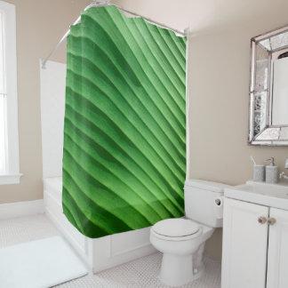 Rideaux De Douche Diagonale verte de feuille