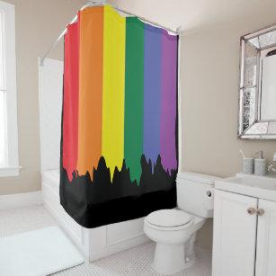Arc-en-ciel Rideau de douche Gay Pride-drapeaux-Points