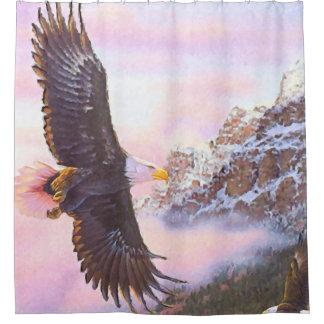 Rideaux De Douche Eagle en brume (oiseau de proie)