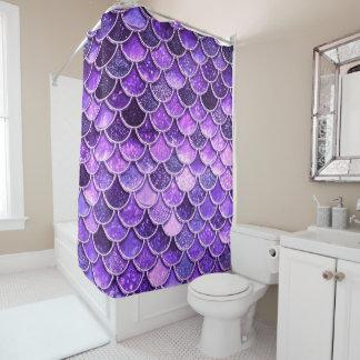 Rideaux De Douche Échelles ultra-violettes de sirène de parties