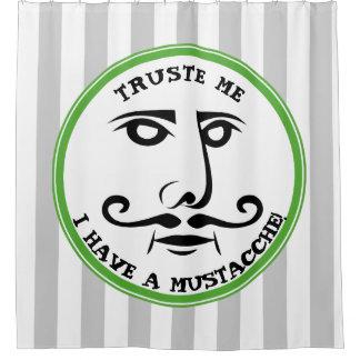 Rideaux De Douche Faites- confiancemoi, j'ont une moustache