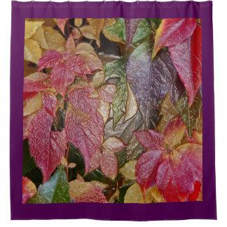 Rideaux De Douche Feuille d'automne brillant, Cire-Regard 001.1.2