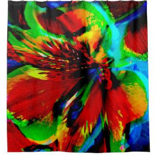 Rideaux De Douche Fleurs avec le coup-de-pied 1 de couleur