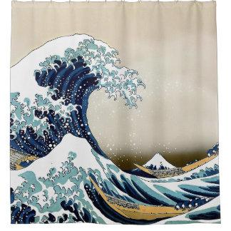 Rideaux De Douche Grande vague reconstituée outre de Kanagawa par