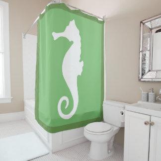 Rideaux De Douche Hippocampe vert