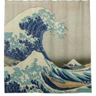 Rideaux De Douche Hokusai la grande vague outre de Kanagawa