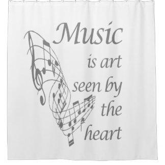 Rideaux De Douche La musique est art vu par la citation inspirée de