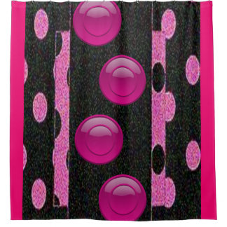 Rideaux De Douche Le noir rose entoure le showercurtain