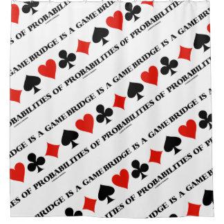 Rideaux De Douche Le pont est un jeu des costumes de carte de