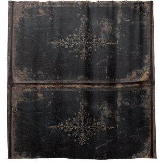 Rideaux De Douche Livre en cuir porté vintage