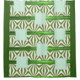 Rideaux De Douche Long showercurtain carré vert