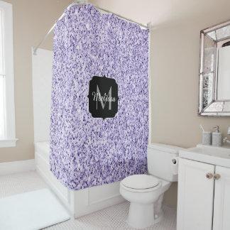 Rideaux De Douche Monogramme mauve-clair ultra-violet d'étincelle de
