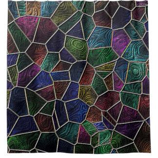 Rideaux De Douche Mosaïque Lora, multicolore