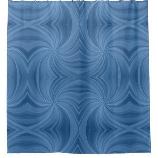 Rideaux De Douche Motif bleu contemporain moderne de remous