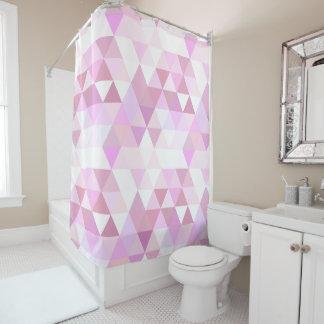 Rideaux De Douche Motif géométrique rose mou de triangle