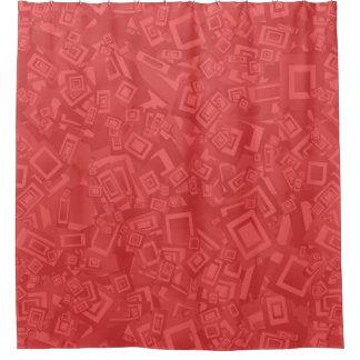 Rideaux De Douche Motif rouge d'abrégé sur moderne contemporain