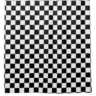 Rideaux De Douche Noir et blanc Checkered