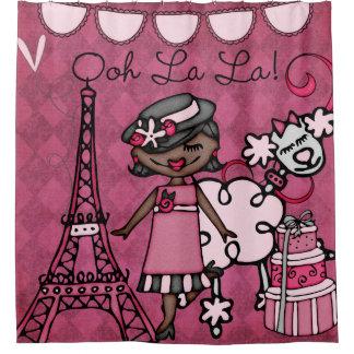 Rideaux De Douche Oh ! Tour Eiffel de diva d'Afro-américain de La de