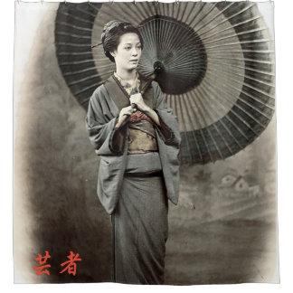 Rideaux De Douche Photographie vintage :  Fille de geisha