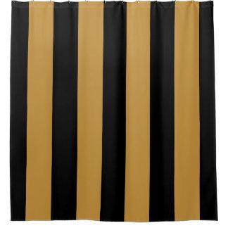 Rideaux De Douche Rayures verticales audacieuses élégantes de noir