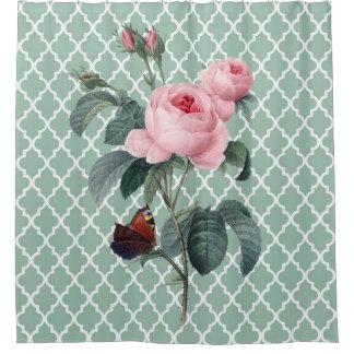 Rideaux De Douche Rose vert l'Orient
