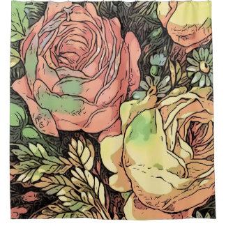Rideaux De Douche Roses merveilleux