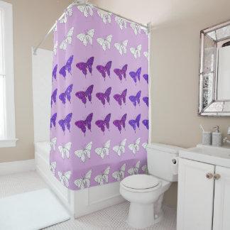 Rideaux De Douche Salle de bains scintillante de Bath de papillons