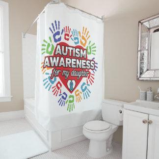 Rideaux De Douche Sensibilisation sur l'autisme pour ma fille