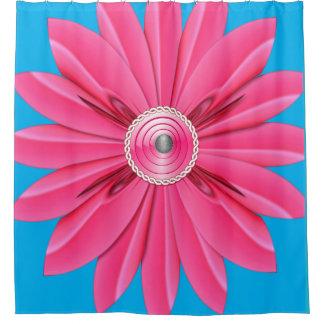 Rideaux De Douche showercurtain rose de bleu de fleur