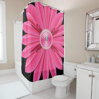Rideaux De Douche showercurtain rose de noir de fleur