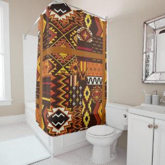 Rideaux De Douche Tons   et résumé africains art. de la terre