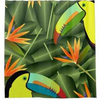 Rideaux De Douche Toucans et oiseaux du paradis