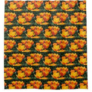 Rideaux De Douche Tulipes oranges