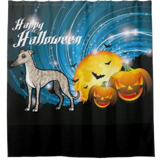 Rideaux De Douche Whippet heureux de Halloween