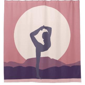 Rideaux De Douche Yoga dans le pourpre