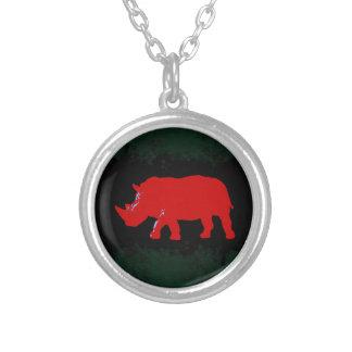Rinoceros Zilver Vergulden Ketting