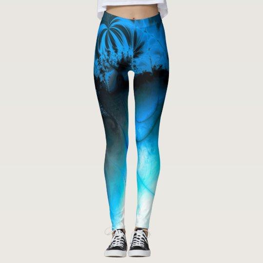 Ripple effet (blue) leggings