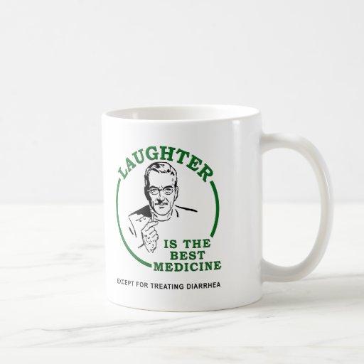 Rire la tasse drôle de médecine de diarrhée
