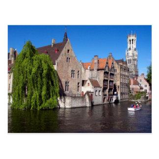 Rivière à Bruges, Belgique Cartes Postales