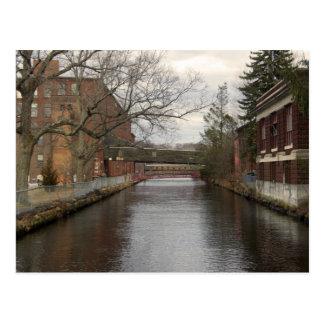 Rivière de Chicopee par les moulins Carte Postale