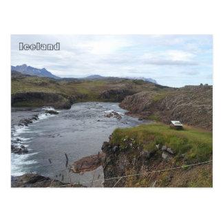 Rivière de Flókadalsá, près de Borgarnes, Carte Postale