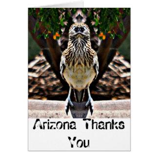 "Roady dit des ""mercis la carte d'Arizona"""