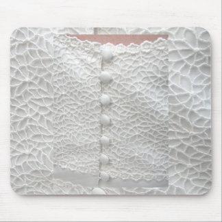 Robe de mariage blanche Mousepad - personnalisable Tapis De Souris